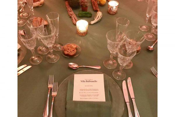 dinner at villa balbianello