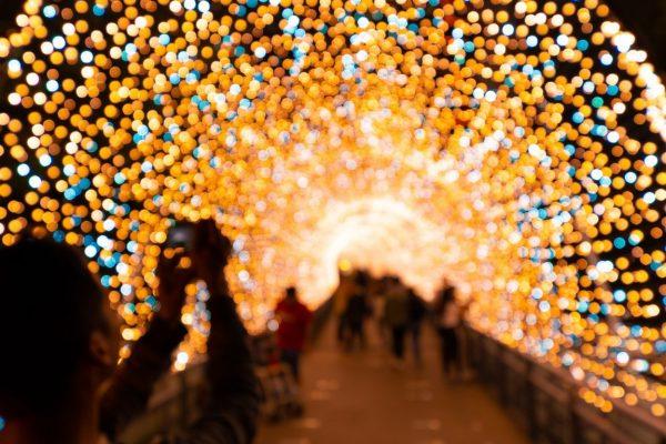 Lake Como christmas lights