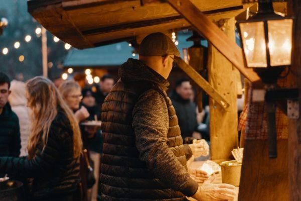 christmas market on lake como