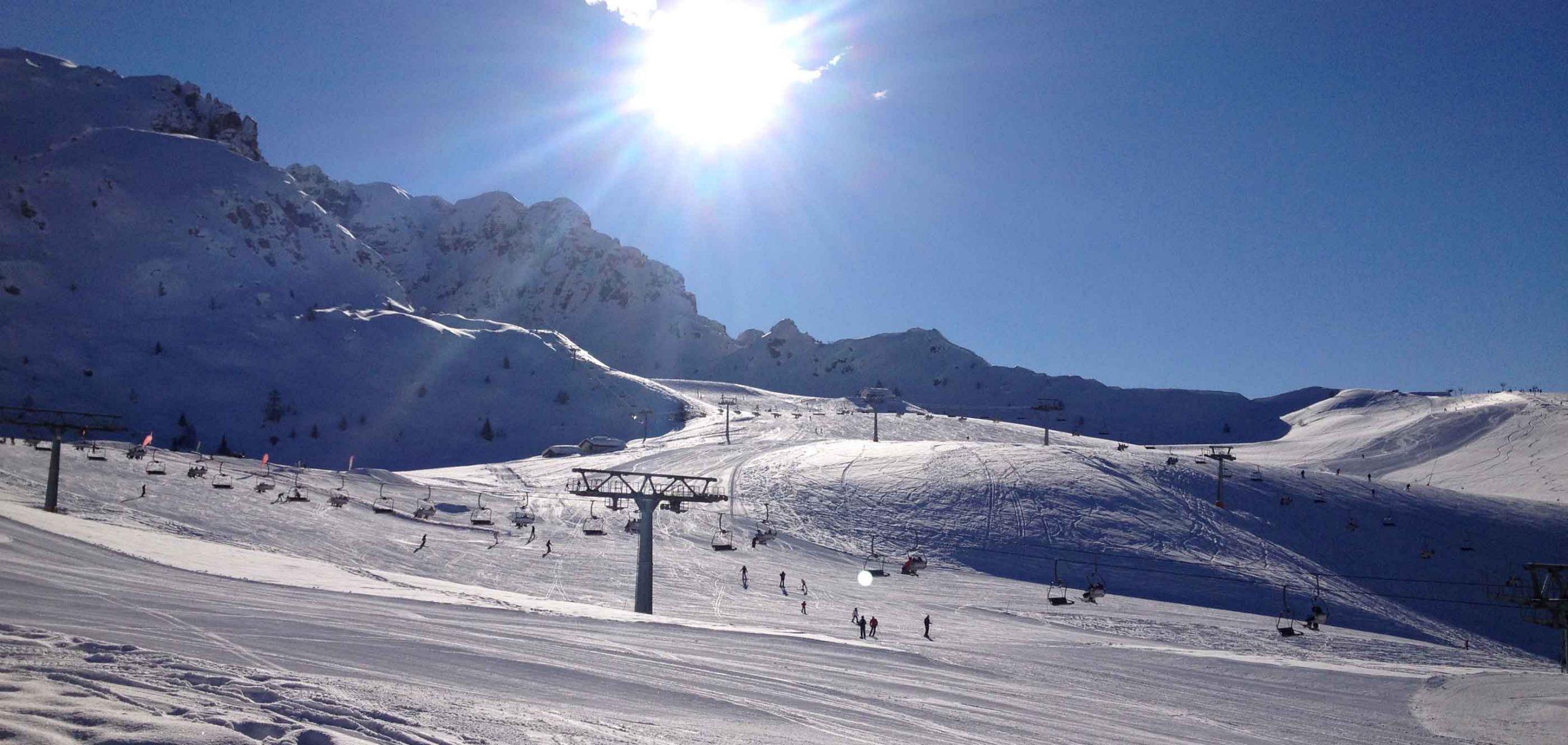 Skiing on Lake Como