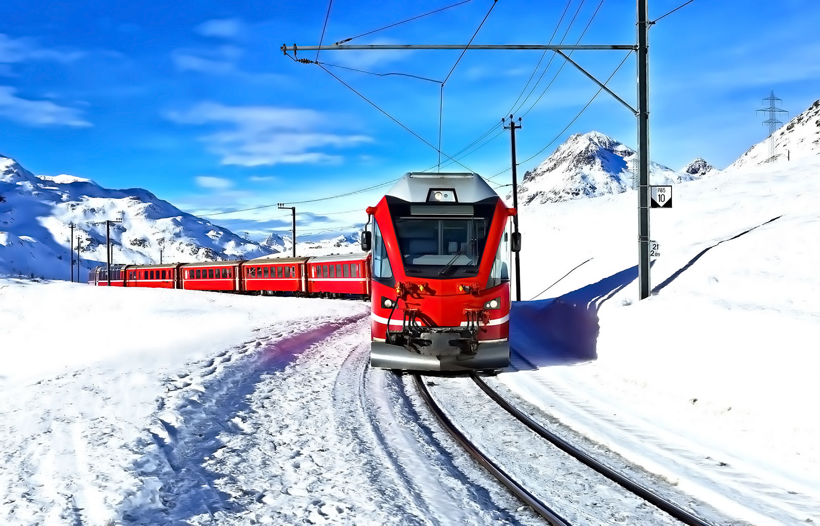Winter Bernina Express